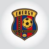 足球徽章商标 免版税库存照片