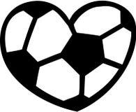 足球心脏 向量例证