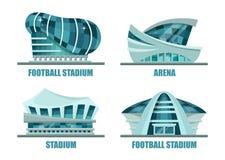 足球或橄榄球场的门面建筑学 向量例证