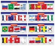 足球或橄榄球套国旗合作小组A-H 皇族释放例证