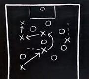 足球战术 免版税库存图片