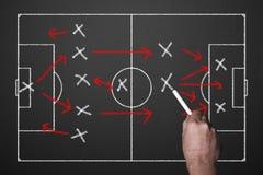 足球战术 免版税图库摄影
