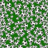 足球无缝的样式 免版税库存照片