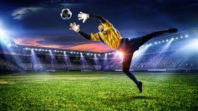 足球最佳的片刻 混合画法 免版税库存图片