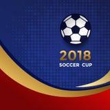 足球杯设计模板 免版税库存照片