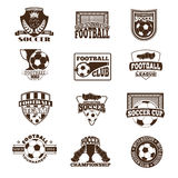 足球标志传染媒介集合 免版税库存图片