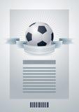 足球模板 免版税图库摄影