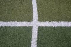 足球橄榄球场体育场草线 图库摄影