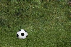 足球橄榄球场草背景纹理 免版税库存照片