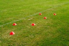 足球橄榄球训练 库存图片