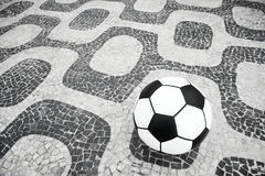 足球橄榄球Ipanema里约热内卢巴西 库存照片