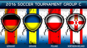 足球欧洲小组C 库存照片