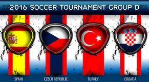 足球欧洲小组D 库存图片