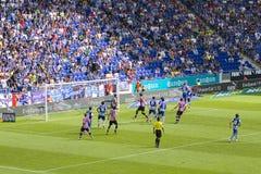 足球比赛: Espanyol与毕尔巴鄂 图库摄影