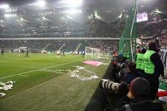 足球比赛 库存图片