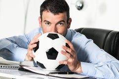 足球激情 免版税库存图片