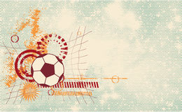 足球现代模板 免版税库存图片
