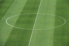 足球球场中央部分 库存图片