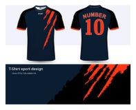 足球球衣和T恤杉体育设计模板 向量例证