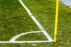 足球白色壁角线 图库摄影