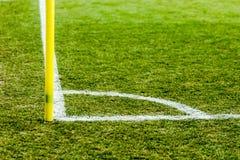 足球白色壁角线 免版税库存照片