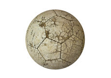 足球的球老使用的白色 库存图片