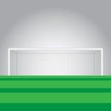 足球目标和足球被归档的传染媒介例证 库存照片