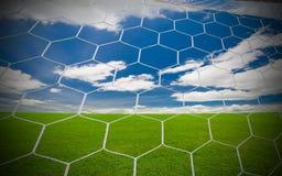 足球目标 免版税库存照片
