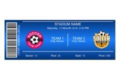 足球票 橄榄球场票的模板设计 向量 库存例证
