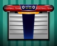 足球记分牌信息 免版税库存图片