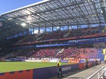 足球赛CSKA罗斯托夫在CSKA体育场,莫斯科内 免版税库存照片