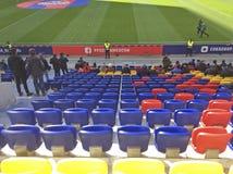 足球赛CSKA罗斯托夫在CSKA体育场,莫斯科内 免版税库存图片