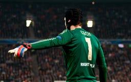 足球运动员守门员彼得Cech 免版税库存图片
