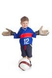 足球运动员年轻人 免版税库存照片