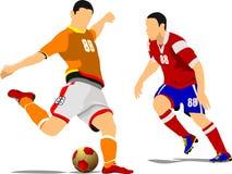 足球运动员海报 图库摄影