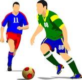 足球运动员海报 库存图片