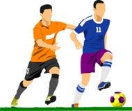 足球运动员海报 免版税库存图片