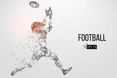 足球运动员的剪影 也corel凹道例证向量 库存照片