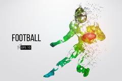 足球运动员的剪影 也corel凹道例证向量 免版税库存照片