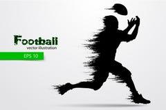 足球运动员的剪影 橄榄球 美国足球运动员 也corel凹道例证向量 库存照片