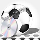 足球运动员的标志 免版税库存照片