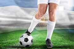 足球运动员的综合图象 免版税库存图片