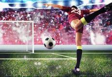 足球运动员目标 图库摄影