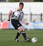足球运动员足球 免版税图库摄影