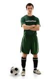 足球运动员身分 库存图片