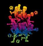 足球运动员队构成图表传染媒介 免版税图库摄影