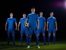 足球运动员队 图库摄影