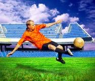 足球运动员 库存照片