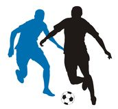 足球运动员 免版税库存照片