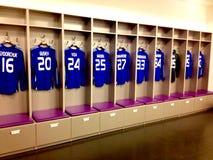足球运动员T恤杉在基辅奥林匹克体育场 免版税库存照片